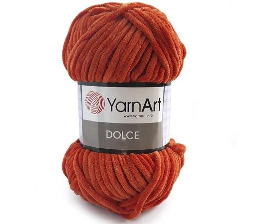 Пряжа Dolce 778- Рыжий (5шт) %100 микрополиэстер,120м/100г